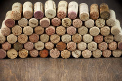 Assorted wine corks Royalty Free Stock Photography
