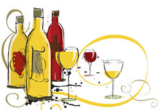 Assorted wines Royalty Free Stock Photo
