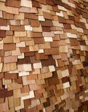 Wood. Different pieces of wood put on a display board Royalty Free Stock Photo