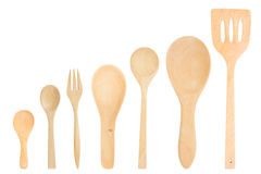 Assorted wooden cutlery Stock Image