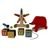 Assorted Wooden Toys Royalty Free Stock Photo