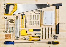 Assorted Woodwork and Carpentry or Construction Tools Royalty Free Stock Photography