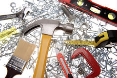 Assorted work tools Stock Photography