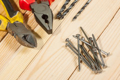 Assorted work tools Royalty Free Stock Images
