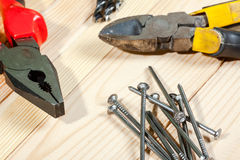 Assorted work tools Stock Images