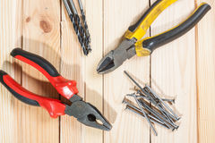 Assorted work tools Royalty Free Stock Photos