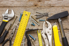 Assorted work tools Royalty Free Stock Image