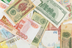 Assorted world banknotes Royalty Free Stock Images