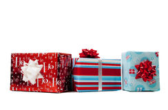Assorted wrapped Christmas presents Royalty Free Stock Photo