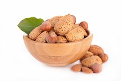 Assortement of nuts Royalty Free Stock Images