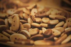 Assorti деревянных кнопок Стоковое фото RF