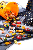 assorti cukierek Halloween obraz stock