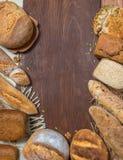 Assorti de panneau de pain photos stock