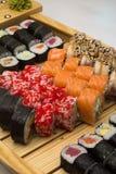 Assorti de sushi Images libres de droits