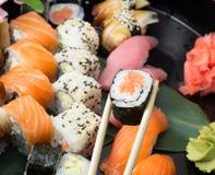 Assorti de sushi Photographie stock libre de droits