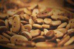 Assorti van de houten knopen Royalty-vrije Stock Foto