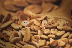 Assorti van de houten knopen Knopenparadijs Royalty-vrije Stock Fotografie