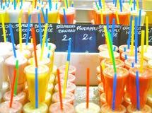 Assortie fresco de los jugos Foto de archivo libre de regalías