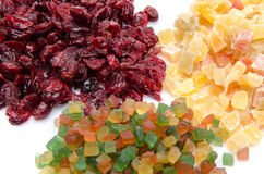 Assortiment of candied dried fruits Royalty Free Stock Images
