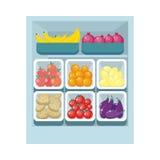 Assortiment d'épicerie Nutrition saine Images libres de droits
