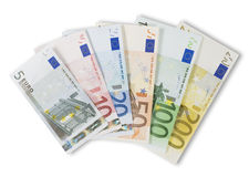 Assortiment d'euro billets de banque. Photo stock