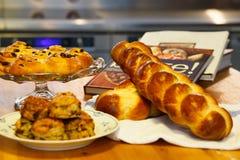 Assortiment de arrosage de bouche des éléments de boulangerie Photographie stock