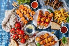 Assortiment de déjeuner de BBQ Images stock