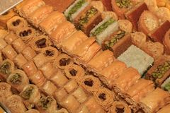 Assortiment de m?lange de Baklawa photos libres de droits