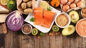 Assortiment de nourriture biologique images stock