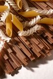 Assortiment de pâtes Image libre de droits