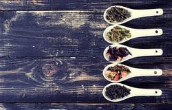 Assortiment de thé sec Photos stock