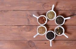 Assortiment de thé sec Photographie stock