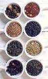 Assortiment de thé sec Image libre de droits