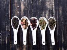 Assortiment de thé sec Photo libre de droits