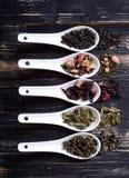 Assortiment de thé sec Photos libres de droits
