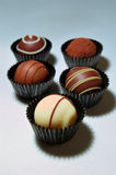 Assortiment de truffes de chocolat Photos libres de droits