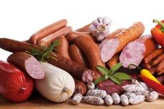 Assortiment delle salsiccie Fotografia Stock