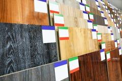 Assortiment des échantillons de plancher photographie stock
