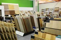 Assortiment des échantillons de plancher stratifiés photos libres de droits