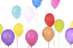 Assortiment des ballons de flottement de partie images stock