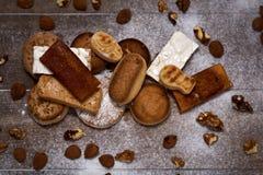 Assortiment des bonbons à Noël typiques en Espagne Images libres de droits