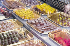 Assortiment des chocolats Images libres de droits