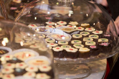 Assortiment des chocolats Photos stock