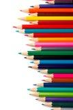 Assortiment des crayons colorés Image stock