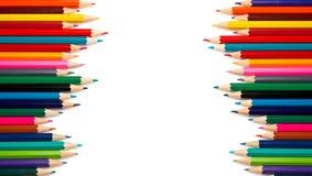 Assortiment des crayons colorés Photo libre de droits
