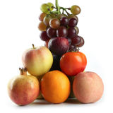 Assortiment des fruits d'isolement sur le blanc Photographie stock libre de droits