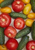 Assortiment des légumes frais dans une boîte en bois Photos stock