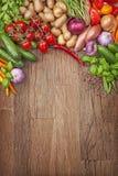 Assortiment des légumes frais Image libre de droits