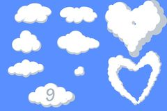 Assortiment des nuages Photo stock