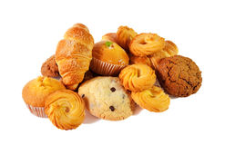 Assortiment des pâtisseries et des biscuits Foyer sélectif Photo stock